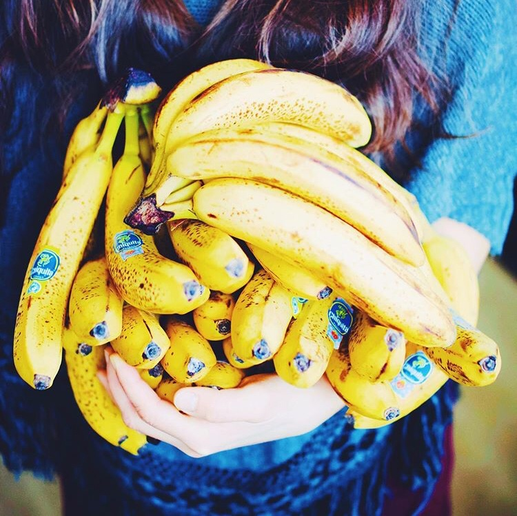 Abundance of bananas. Raw vegan lifestyle.